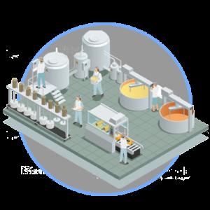 Sistema de filtración para empresas de alimentos